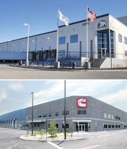 images of Preferred Freezer Services and Cummins Power Systems buildings