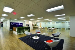 image of the interior of Scynexis headquarters in Jersey City.