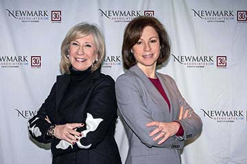 Newmark Associates President and CEO Susanne Newmark (left) and Chief Operating Officer Nancy Glick