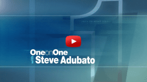OneonOne Talk Show title page with play video icon