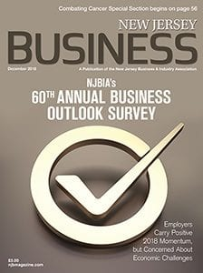 NJ Business Outlook Survey Magazine Cover