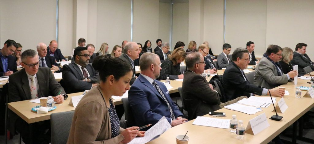 About 40 professionals attended the NJBIA-State Chamber of Commerce meeting with the New Jersey division of taxation