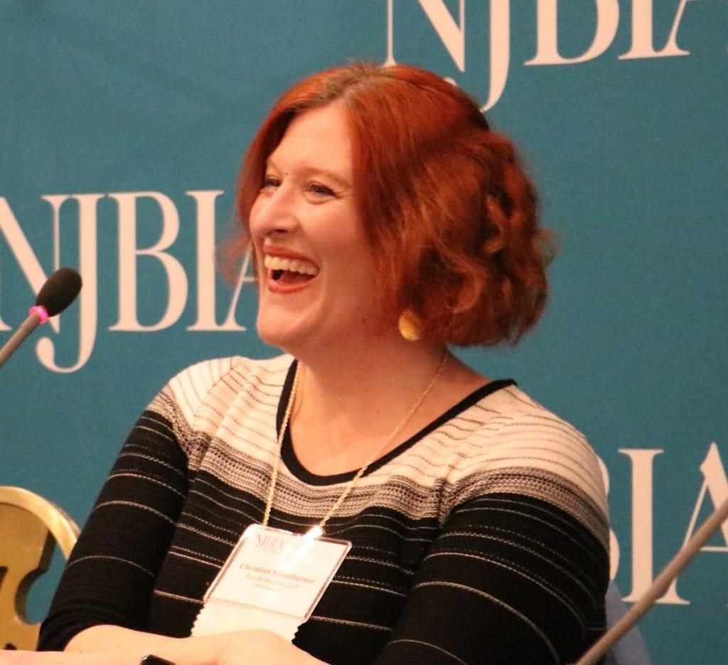 Attorney Christina Stoneburner at NJBIA's Hard Decisions seminar