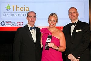 Image of Theia CEO Joanna Gordon Martin accepting award