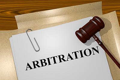 illustration of Arbitration title on Legal Documents