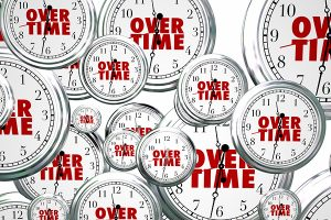 image of overtime clocks