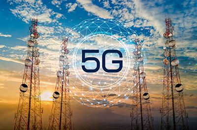 image of 5G Telecommunication tower antenna