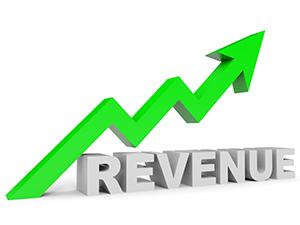 graph showing revenue up