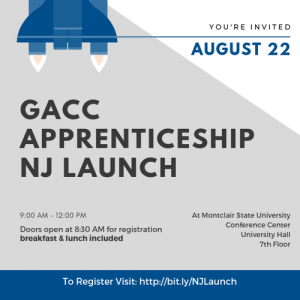 Event Flier for Apprenticeship NJ Launch