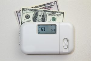 image of money and thermostat