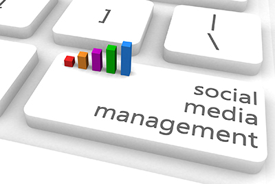 image of social media management concept