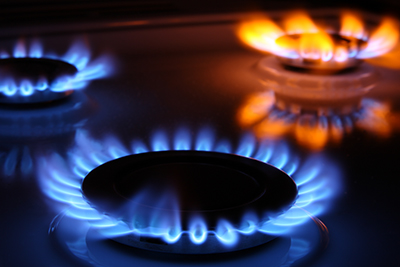 natural gas stove flames