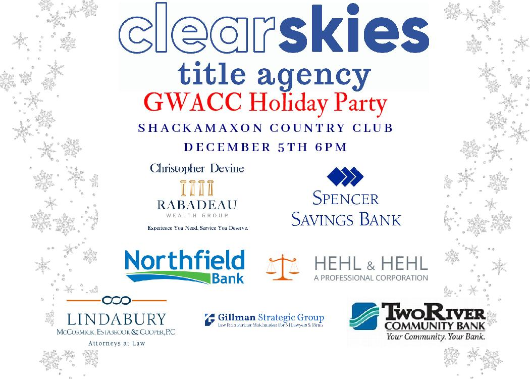 Greater Westfield Area Chamber of Commerce Clear Skies Title Agency Holiday Party