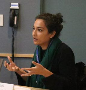 Shabnam Salih, Policy Advisor for Gov. Phil Murphy, speaking at NJBIA's Health Affairs Committee
