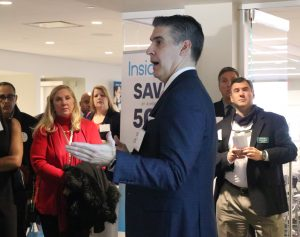 Al DeCarlo, Express Scripts' director of Clinical Product Analytics – Knowledge Solutions, speaking at NJBIA's Holiday Networking event