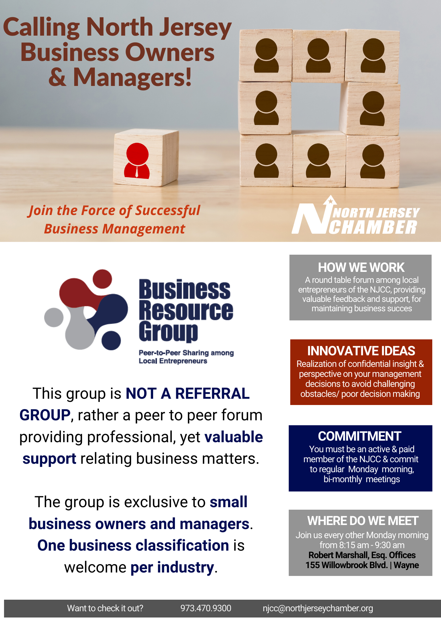 Business Resource Group (BRG) for Business Owners, The North Jersey Chamber of Commerce