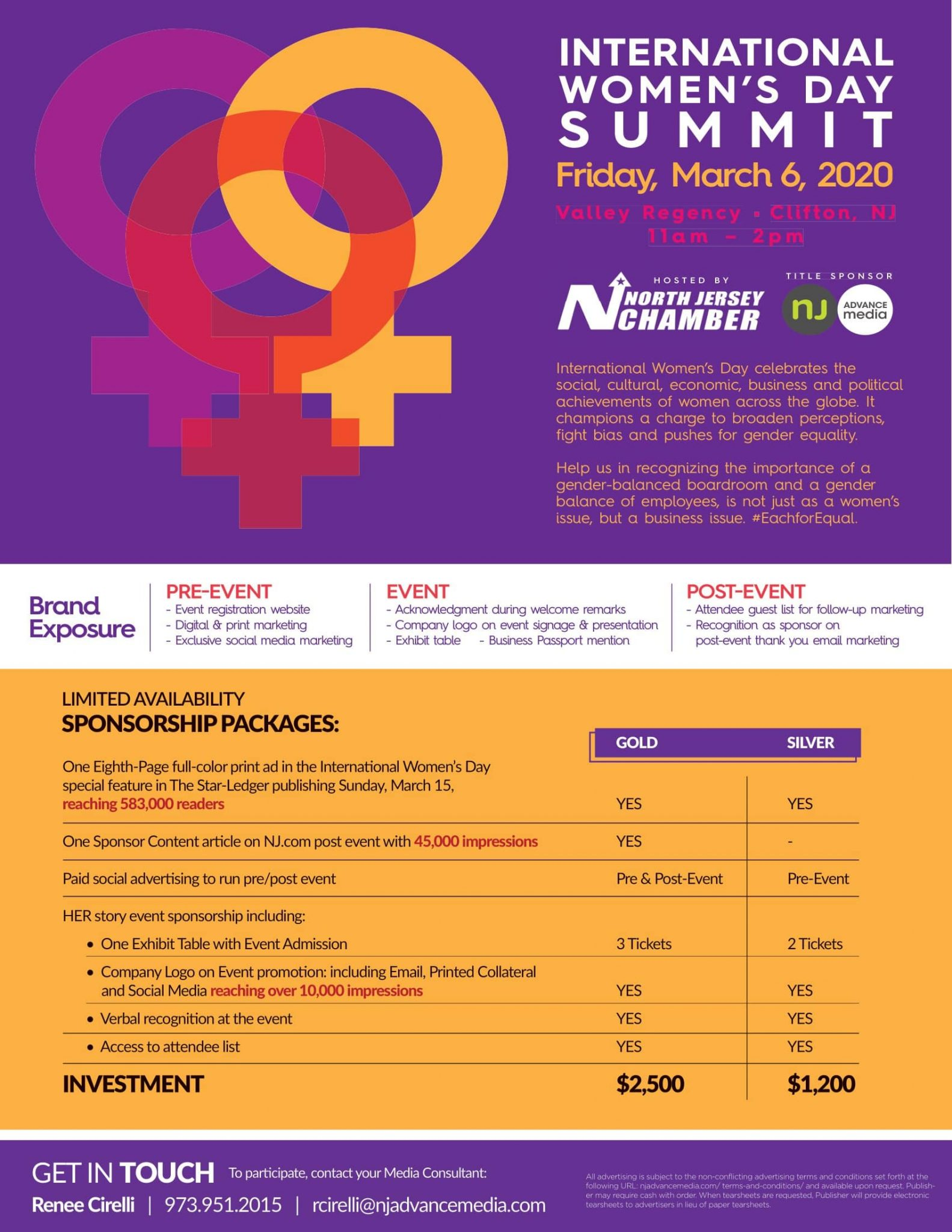 International Women's Day Summit, North Jersey Chamber of Commerce
