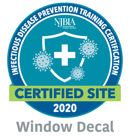 NJBIA Safe Decal