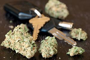 Marijuana driving image