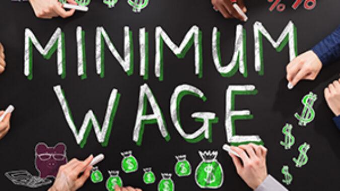 Minimum Wage written on a chalkboard