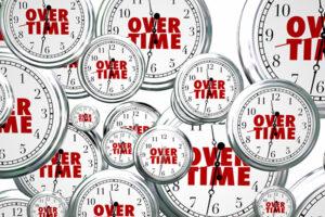 image of overtime clocks