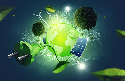 concept image of clean energy
