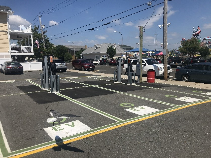 Photo of electric vehicle charging stations. Matt Mee, Chapman Environmental Services