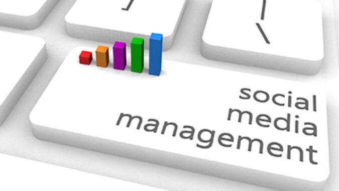 image of social media management concept