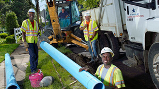 American Water Workers in the field