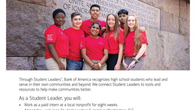 BOA flyer with photo of students and describing the program