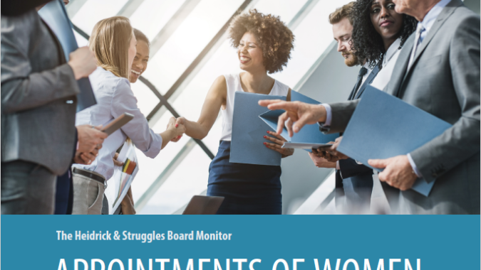 Cover of Board Monitor report on appointments of women to corporate boards