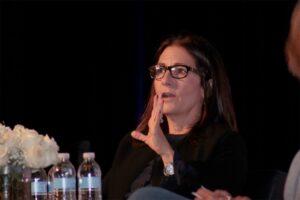Entrepreneur Bobbi Brown at the Women Business Leaders Forum.