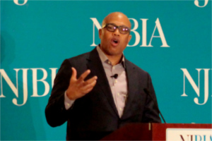 Jeff Henderson speaking at NJBIA's 2017 Women Business Leaders Forum