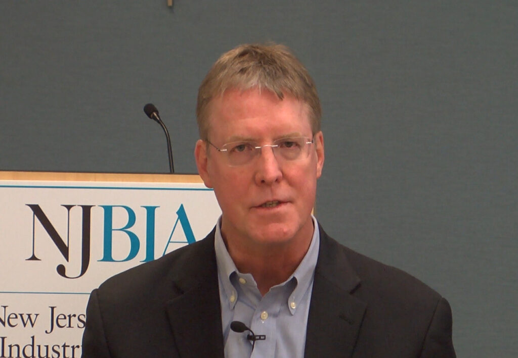 Joe Galvin, chief research officer for Vistage, during a webcast at NJBIA.