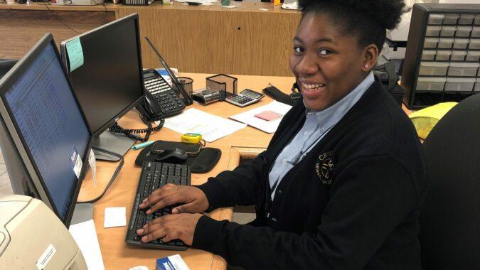 Cristo Rey Newark High School interns working onsite at ZAGO