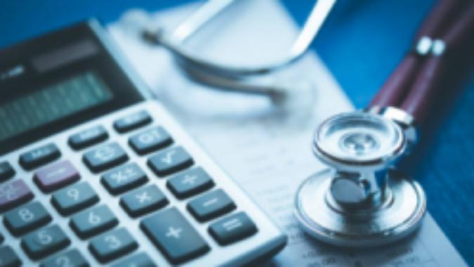 Stethoscop and calculator