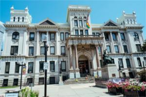 Facade of Jersey City Hall