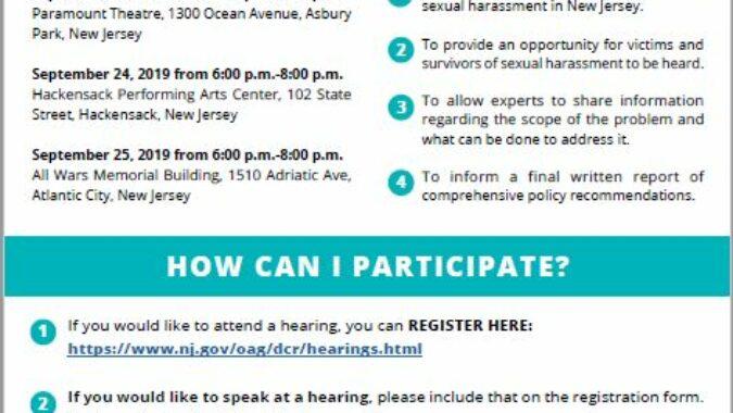NJCASA Flyer About Public Hearing