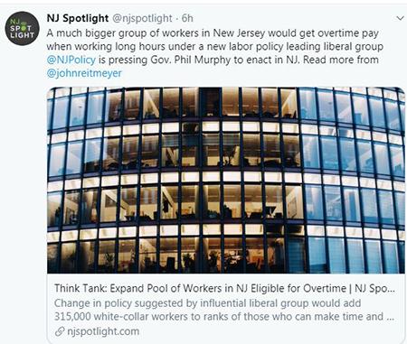 screenshot of NJ Spotlight story on overtime rules