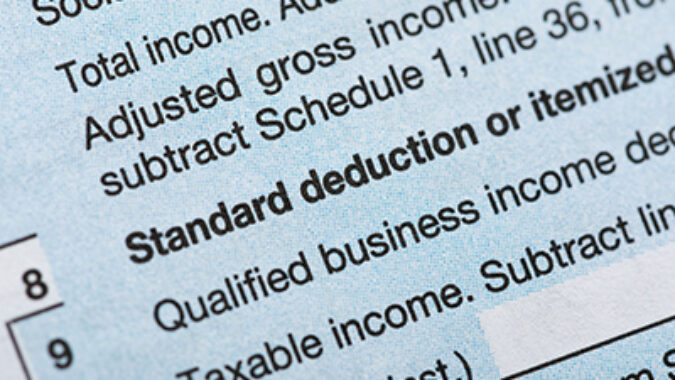Image of Tax Return with line item for Qualified Business Income Tax Deduction