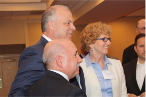 Senate President Stephen Sweeney (center) at the Meet the Decision Makers event