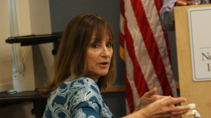 Deputy Director Denise Harding answering a question during NJBIA's taxation policy committee meeting