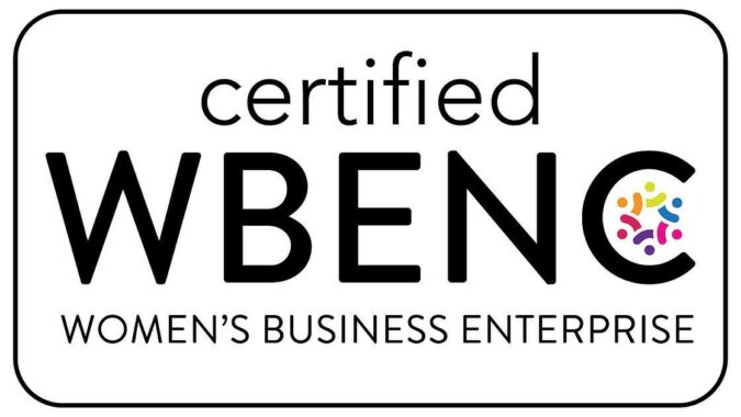 certified Women's Business Enterprise insignia