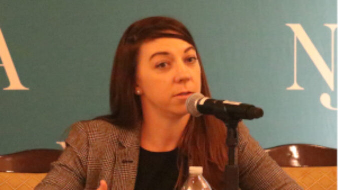 Connell Foley attorney Molly Kellett fields a questions during NJBIA's Mitigate Your Risk seminar.