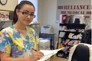 Woman in a medical training program