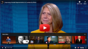 Screen shot of video of Michele Siekerka on One on One with Steve Adubato