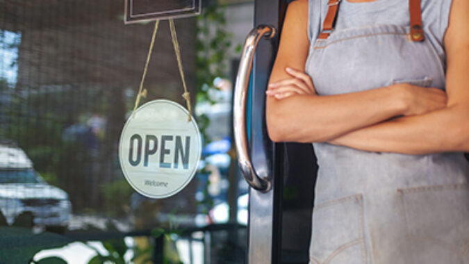 small business cafe owner