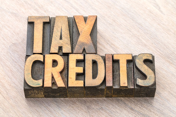 stamp that says tax credits