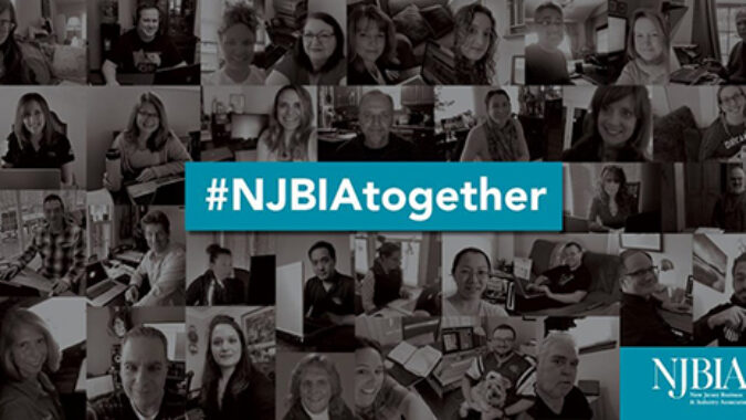 Collage of NJBIA employees working from home during COVID-19 crisis